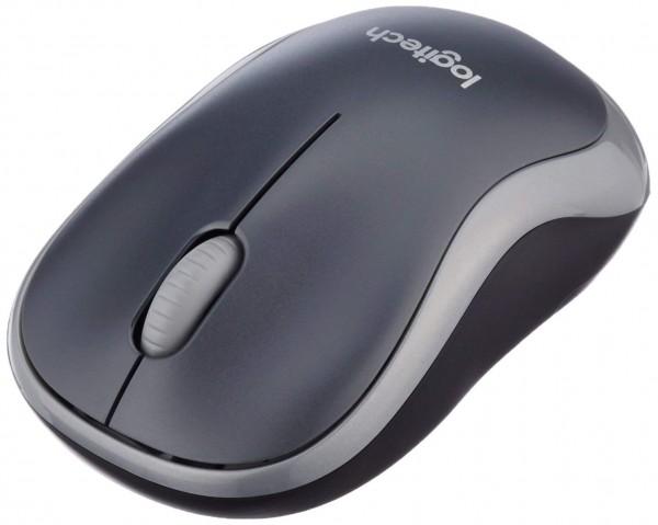 Logitech M185 schnurlos Maus (USB, kompatible mit Windows, Mac, Linux) grau