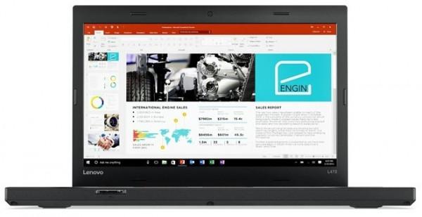 "LENOVO ThinkPad L470 Intel i5-6300U 2,40GHz 8GB RAM 256GB SSD 14"" Zoll HD W10P"