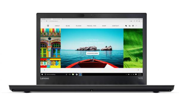 """LENOVO ThinkPad T470, Intel Core i5-7300U CPU 2.60GHz, 8GB RAM, 256GB SSD, 14""""HD, Windows 10 Pro"""