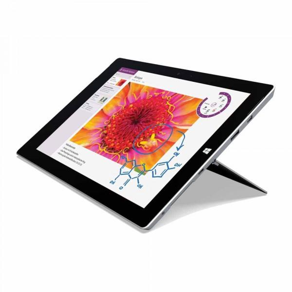 Microsoft Surface Pro 3 Tablet Intel i5 128GB SSD 4GB RAM Silber Windows 10 Pro